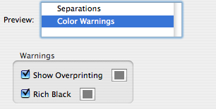 Color Warnings