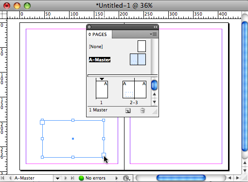 Insert Text Frame on Left Master