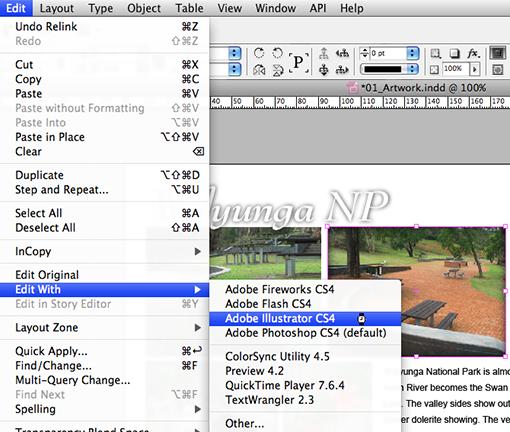 screenshot, Edit > Edit Width menus