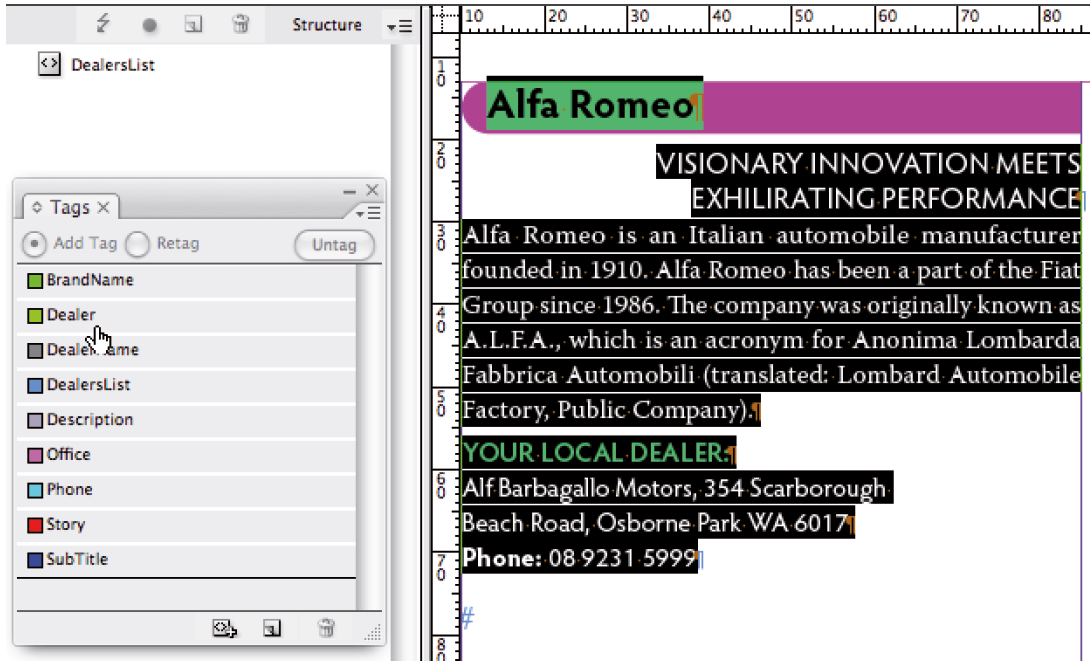 Adobe InDesign and XML: Building an XML Run-in template | Cari Jansen