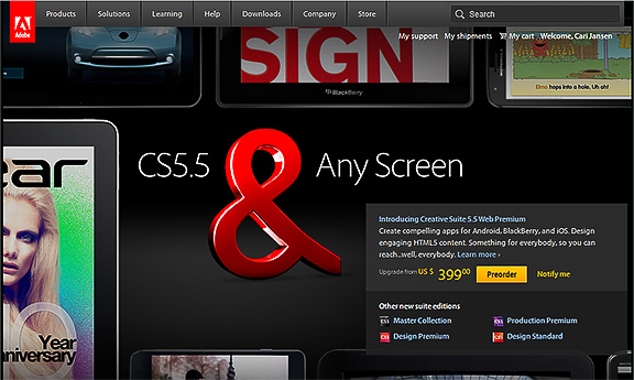 CS5.5 & Any Screen