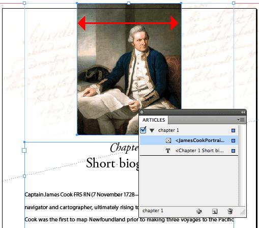 InDesign floating image sample