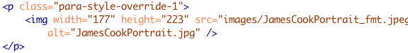html code sample