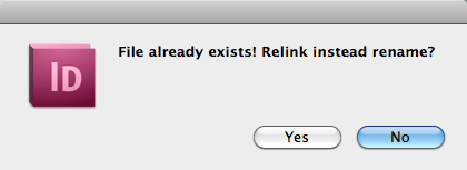 File already exists warning dialog