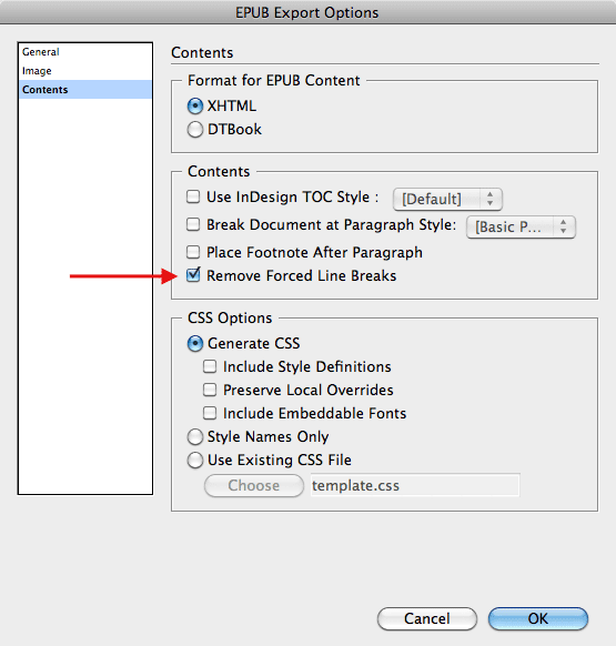 InDesign to EPUB: Fixing Forced Line Breaks