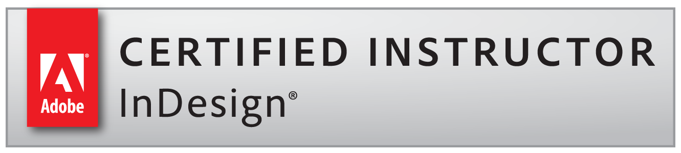 Adobe Certified Instructor InDesign badge