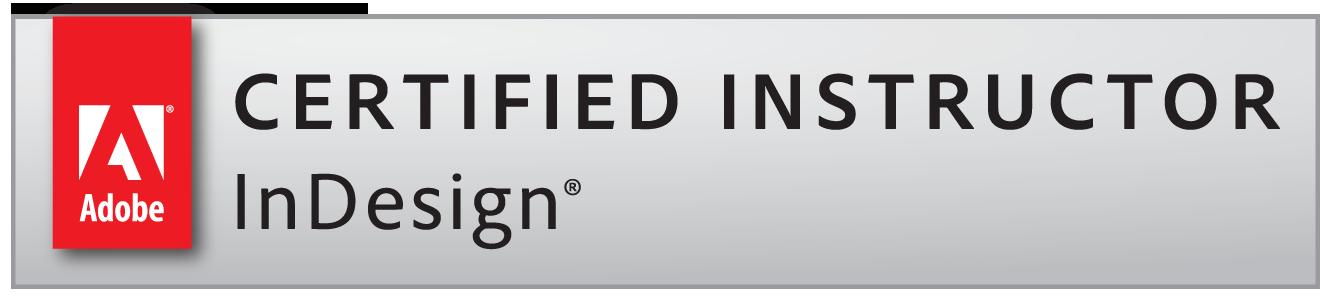 Adobe Certified Instructor InDesign badge